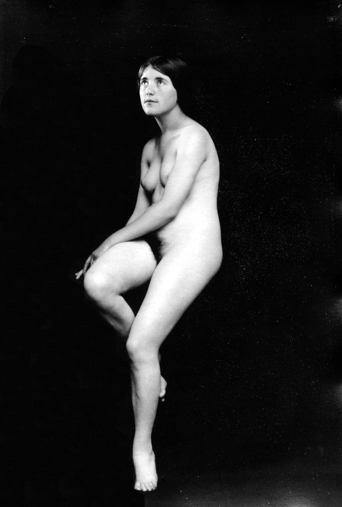 Image for Gazing up 1920s nude 8x10 Albert Arthur Allen photo