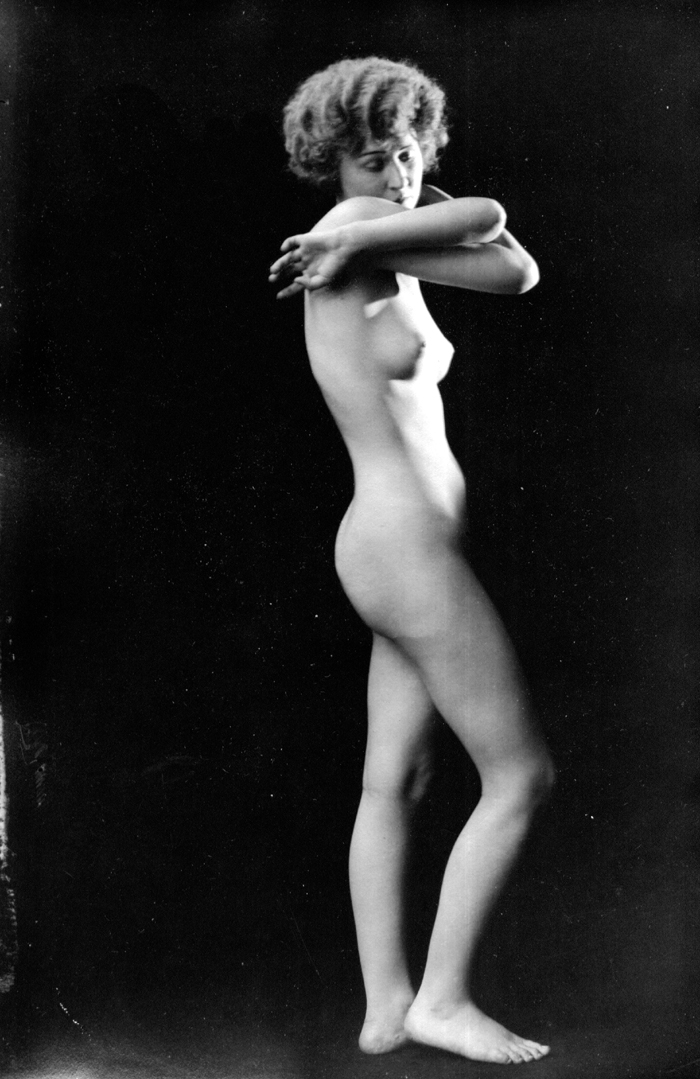 Image for Crossed arms 1920s nude 8x10 Albert Arthur Allen photo