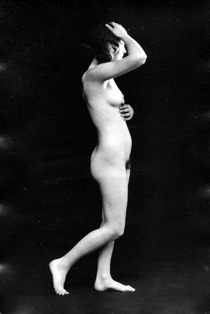 Image for Facing left 1920s nude 8x10 Albert Arthur Allen photo