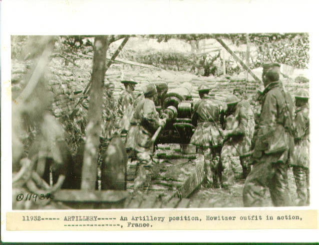 Image for U S Howitzer in action France 1918 6x8 pic
