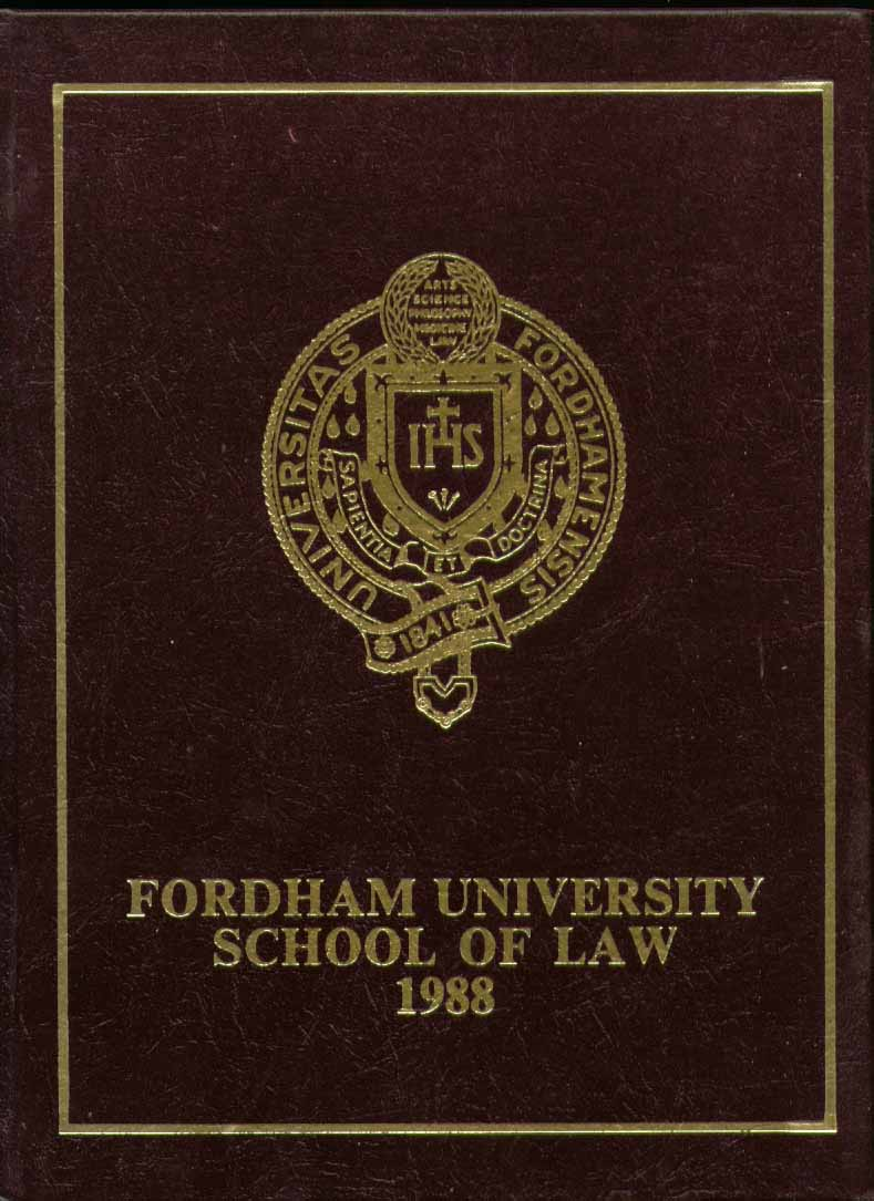 Image for Fordham University of Law New York NY 1988 Yearbook