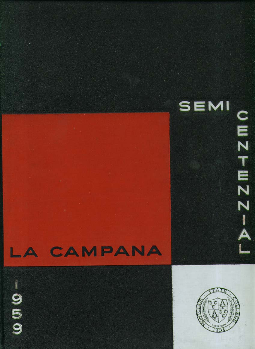 La Campana Montclair State College Upper Montclair New Jersey 1959 Yearbook