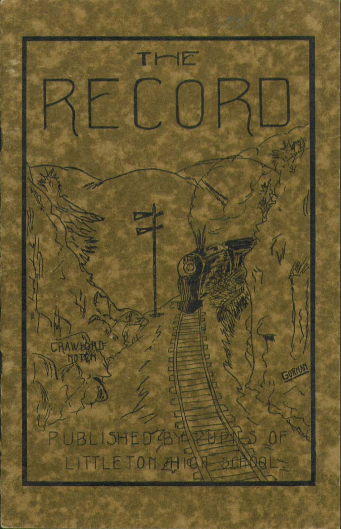 Image for The Record Littleton High School Littleton New Hampshire 1935 Yearbook