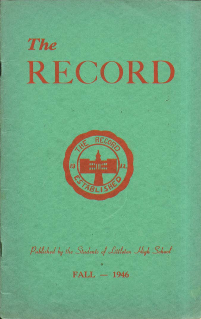 The Record Littleton High School Littleton New Hampshire Fall 1946 Yearbook