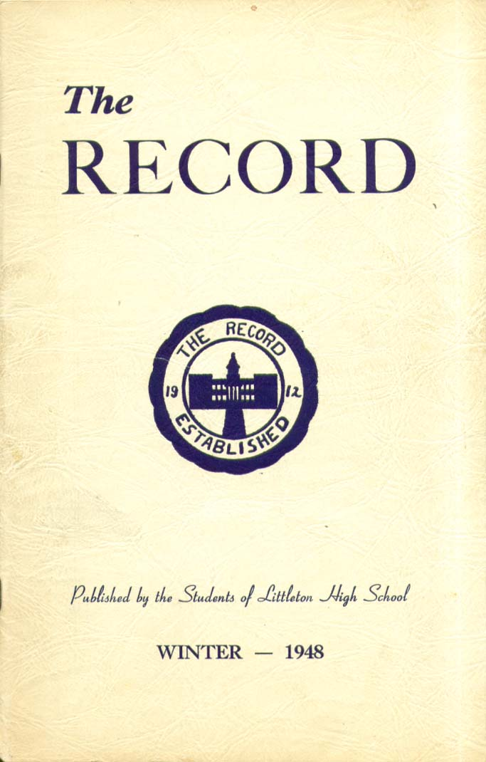 The Record Littleton High School Littleton New Hampshire Winter 1948 Yearbook