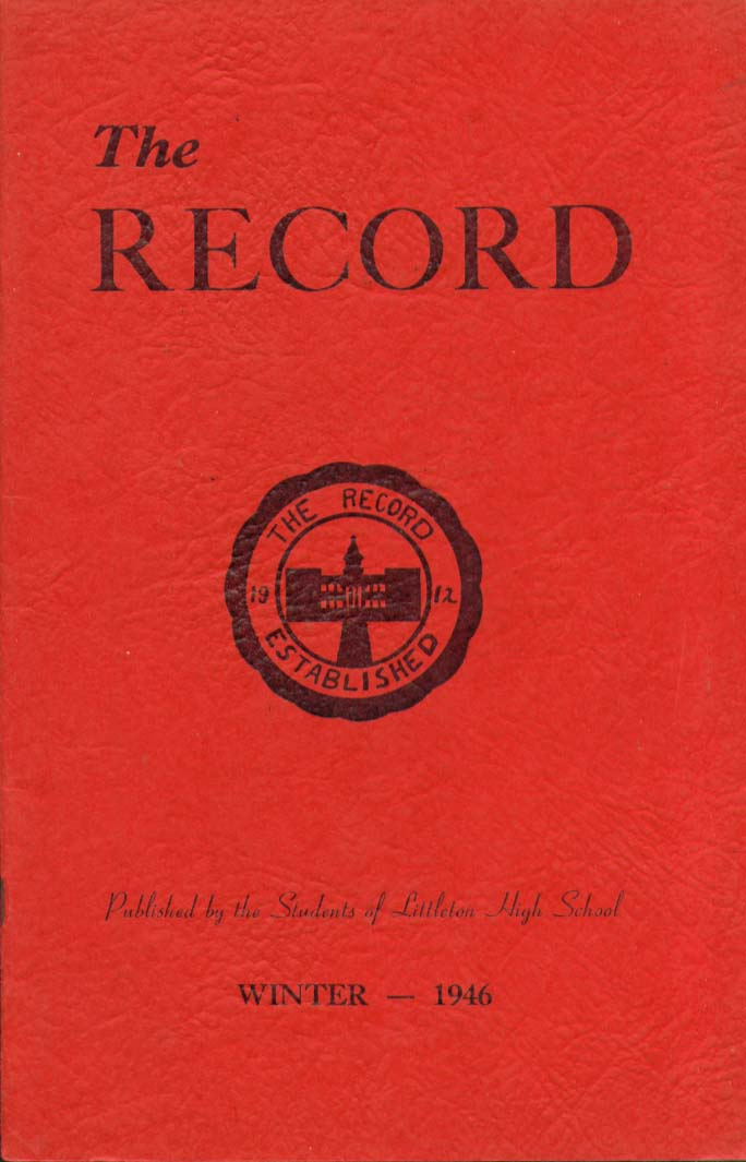 Image for The Record Littleton High School Littleton New Hampshire Winter 1946 Yearbook