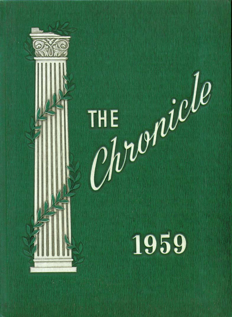 Image for Chronicle Southington High School Southington Connecticut 1959 Yearbook