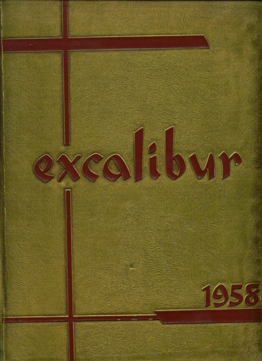 Image for Excalibur College of Holy Names Oakland California 1958 Yearbook