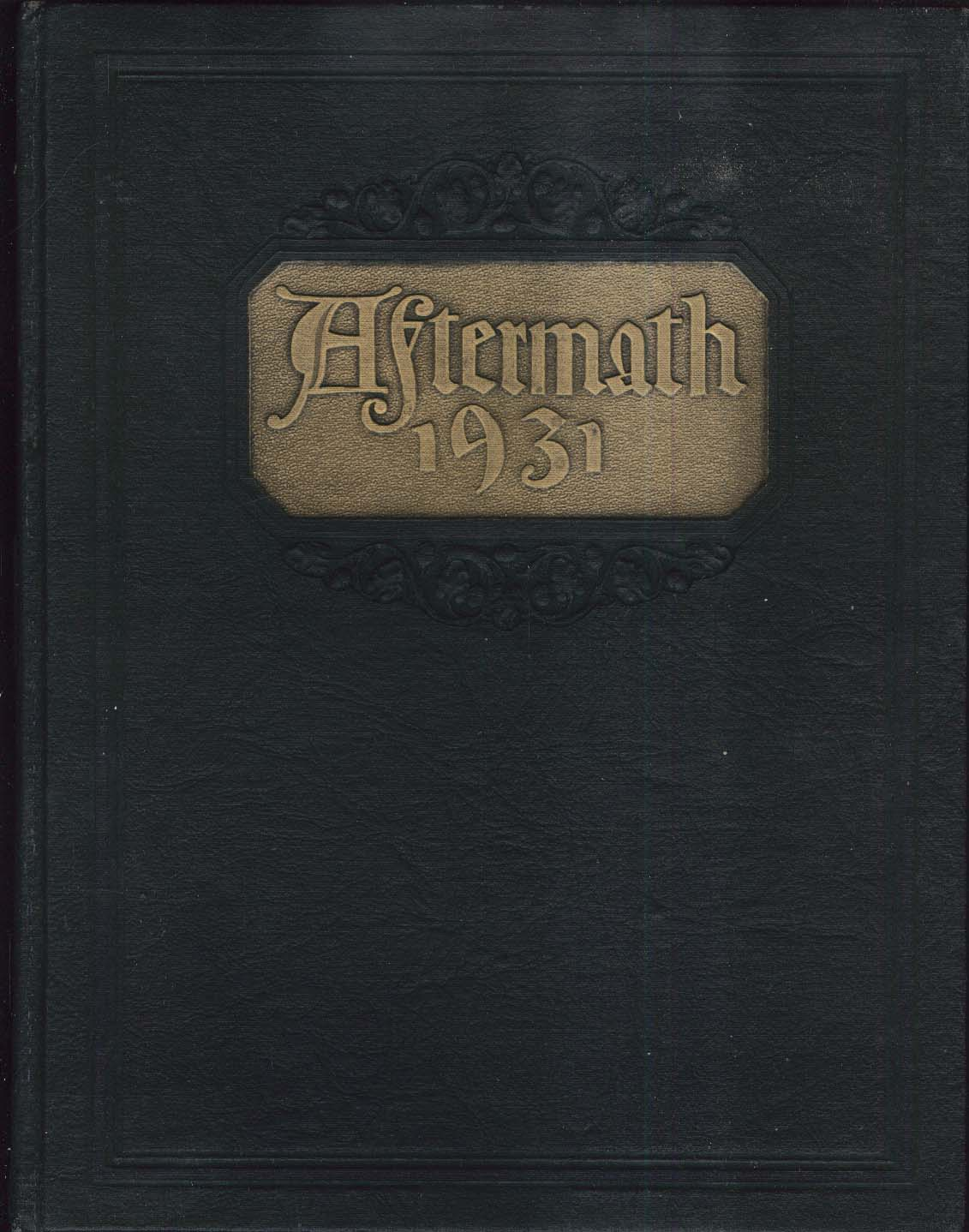 Image for Aftermath 1931 South High School Worcester Massachusetts MA Yearbook