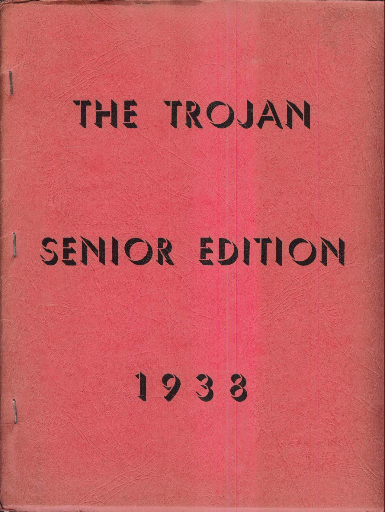 Image for The Trojan Senior Edition 1938 Yearbook Troy New Hampshire NH