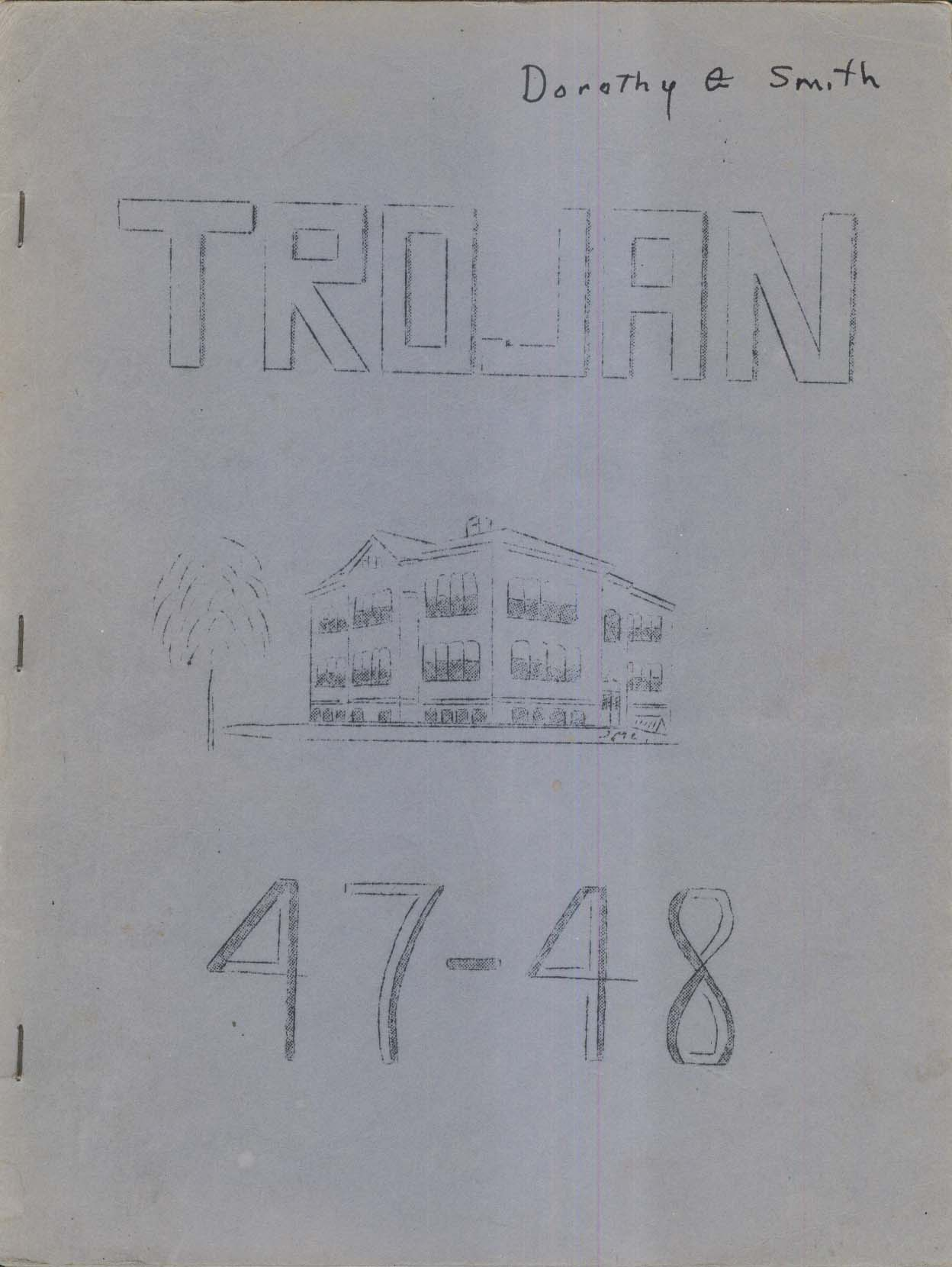 Image for Trojan 1948 Troy High School Troy New Hampshire NH Yearbook