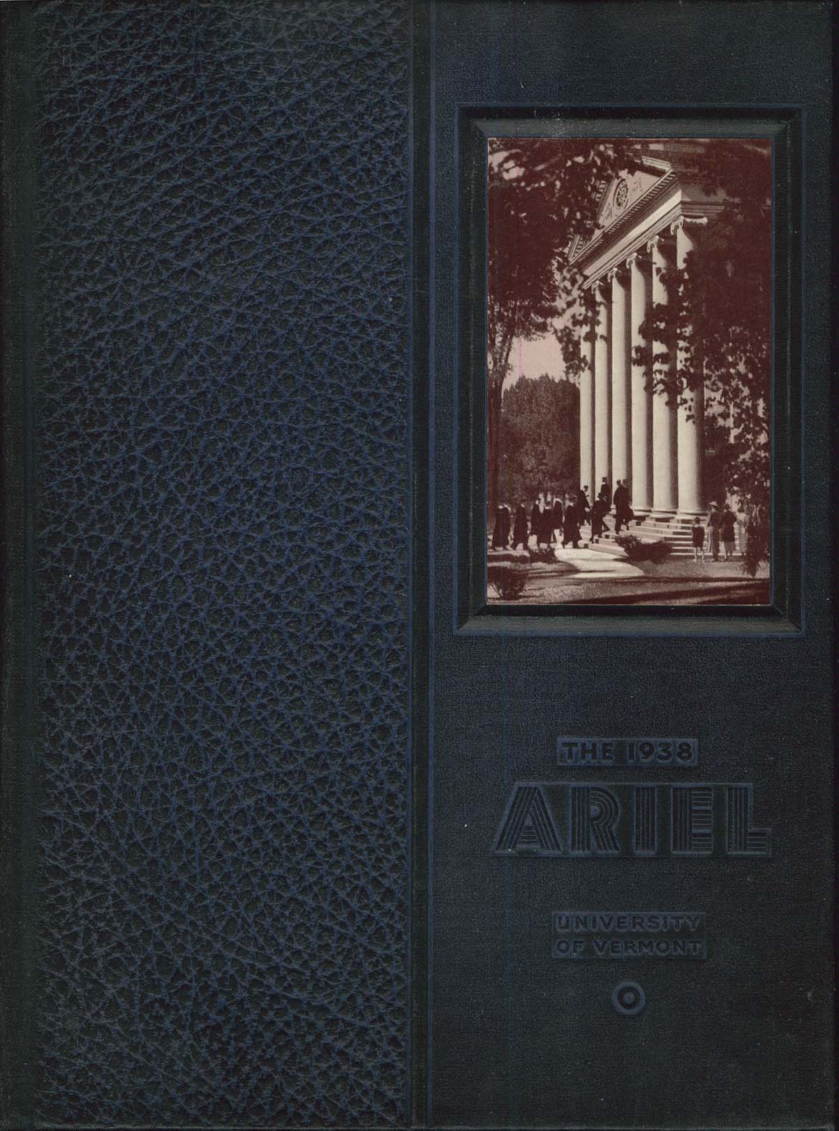 1938 Ariel University of Vermont Burlington VT Yearbook