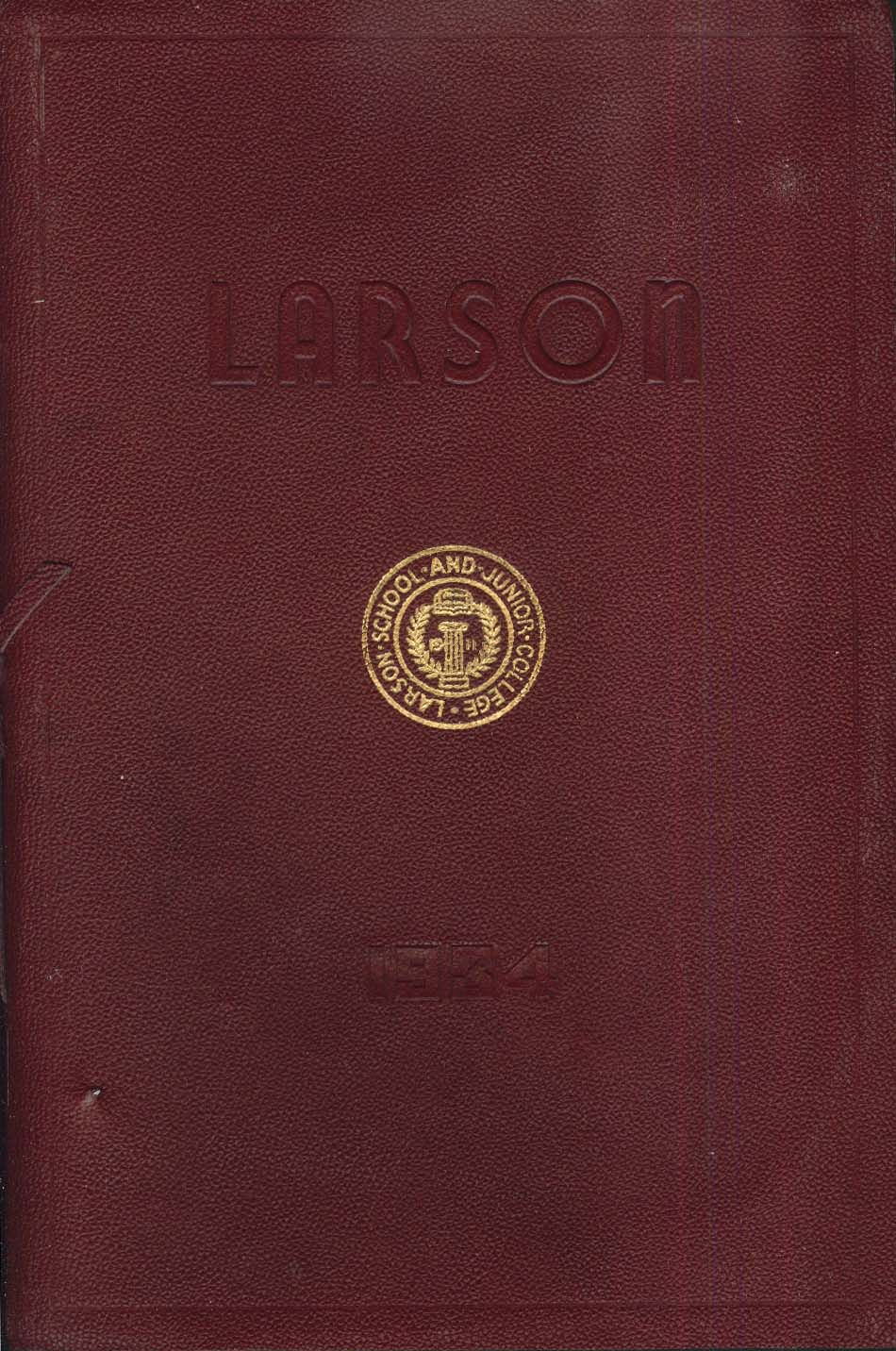 Larson School & Junior College New Haven Connecticut CT 1934 Yearbook