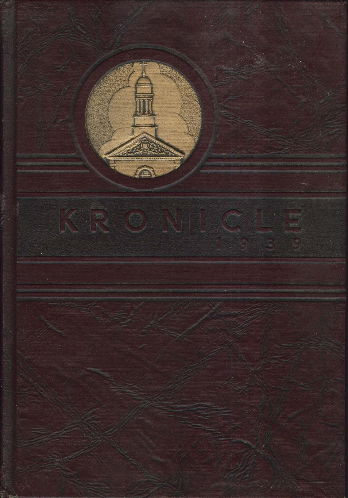 Kronicle State Normal School Keene New Hampshire NH 1939 Yearbook