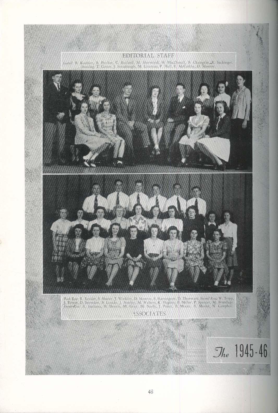 Gusher Bolivar Central School Bolivar New York 1946 Yearbook