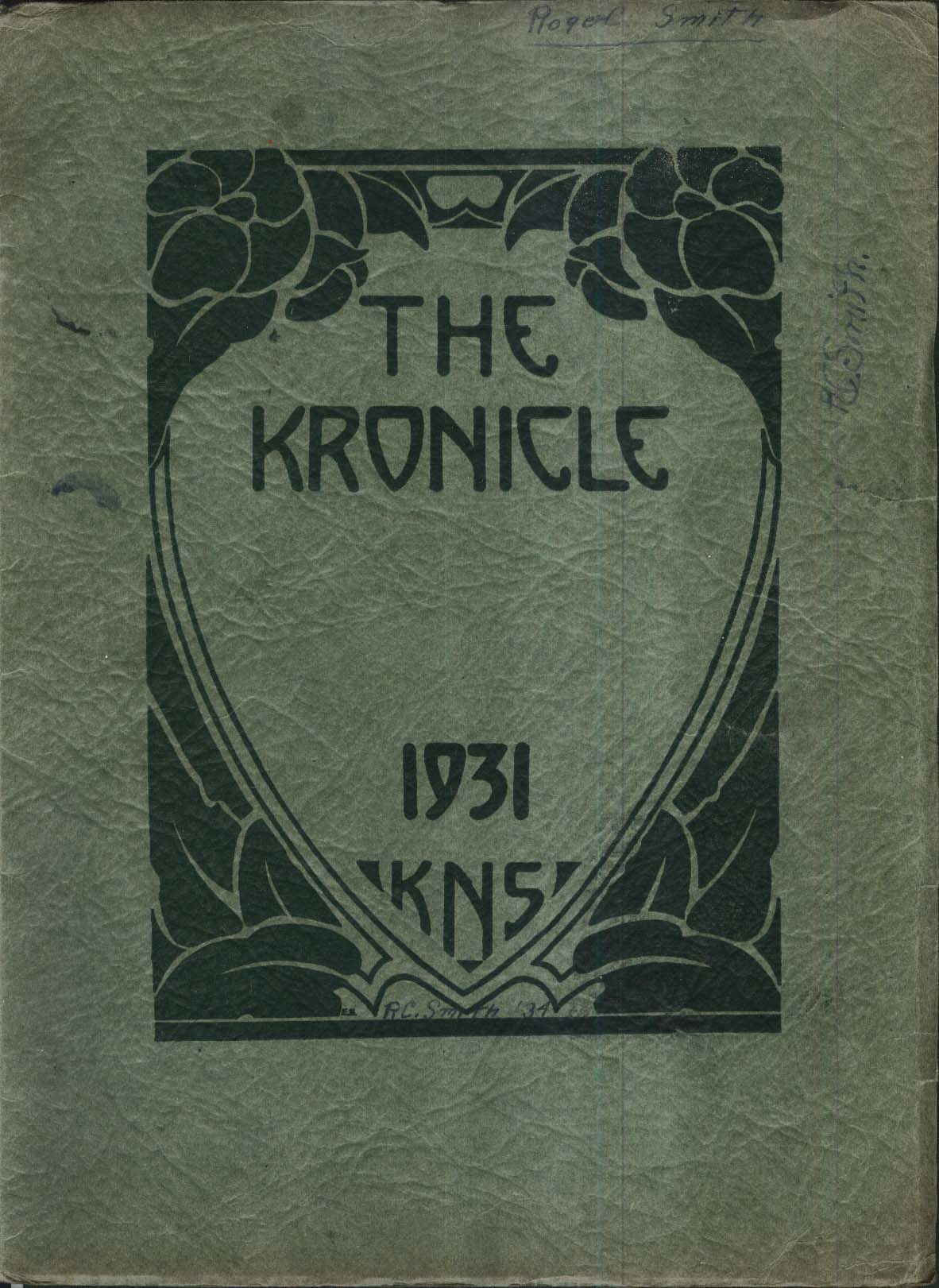 The Kronicle KNS Keene Normal School New Hampshire 1931 Yearbook