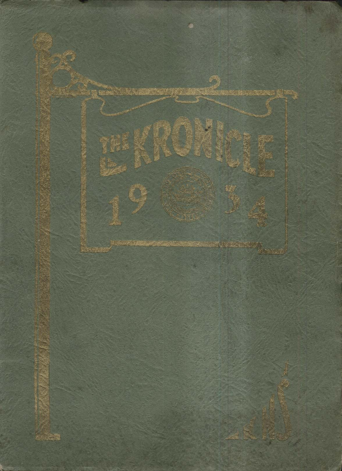 The Kronicle KNS State Normal School Keene New Hampshire NH 1934 Yearbook