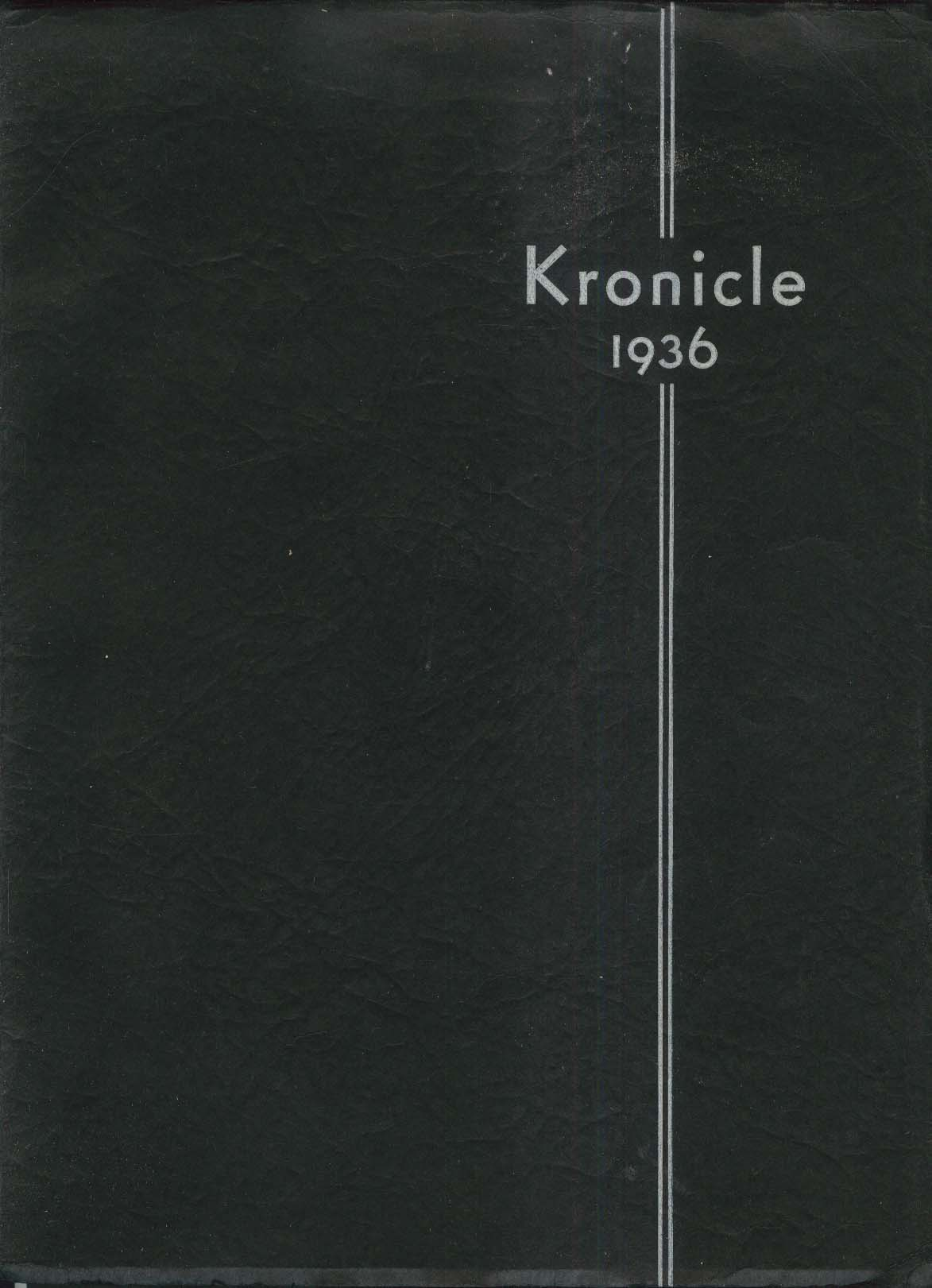 Kronicle 1936 Keene Normal School New Hampshire Yearbook