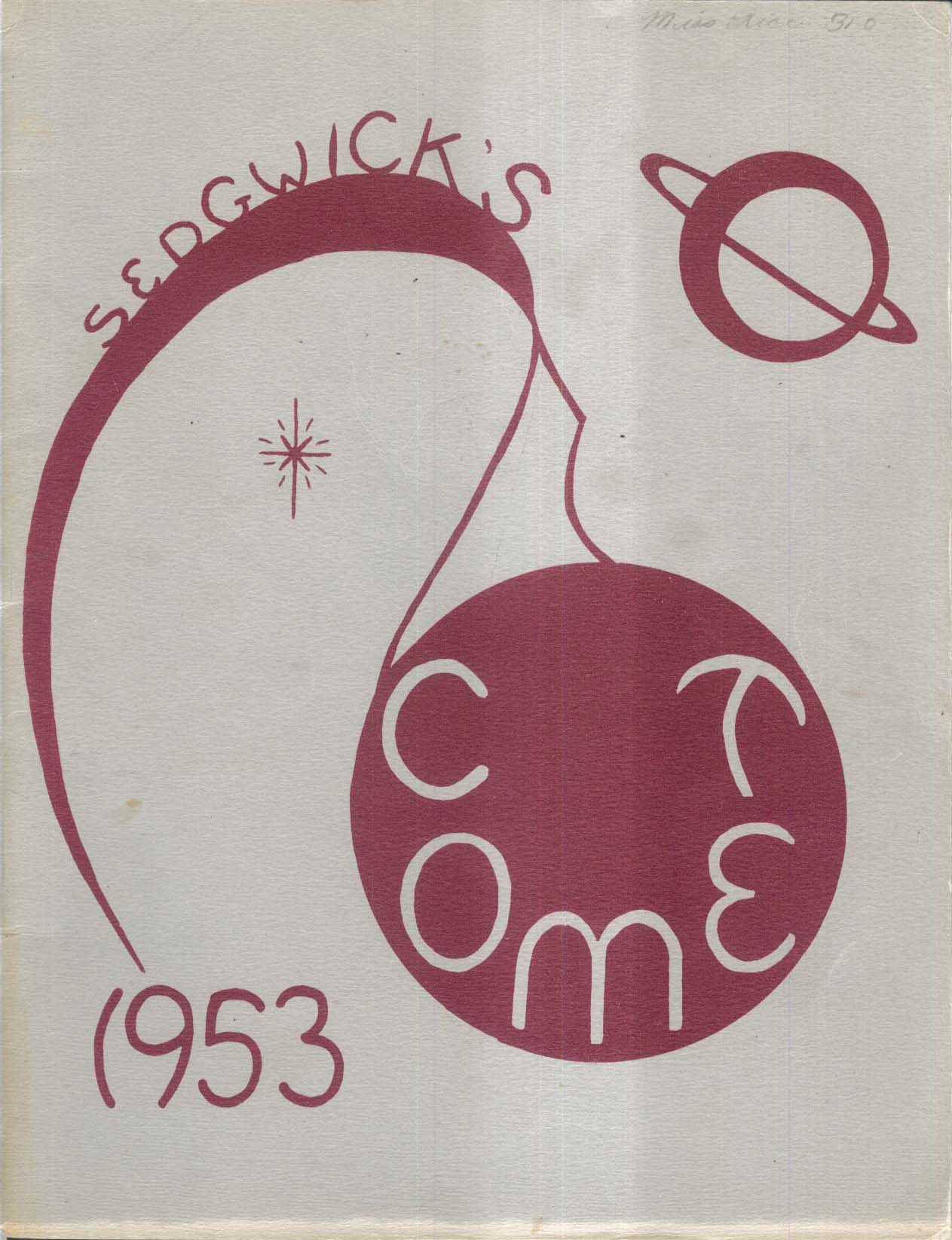 Image for Sedgwick Comet 1953 Sedgwick Junior High School West Hartford CT Yearbook