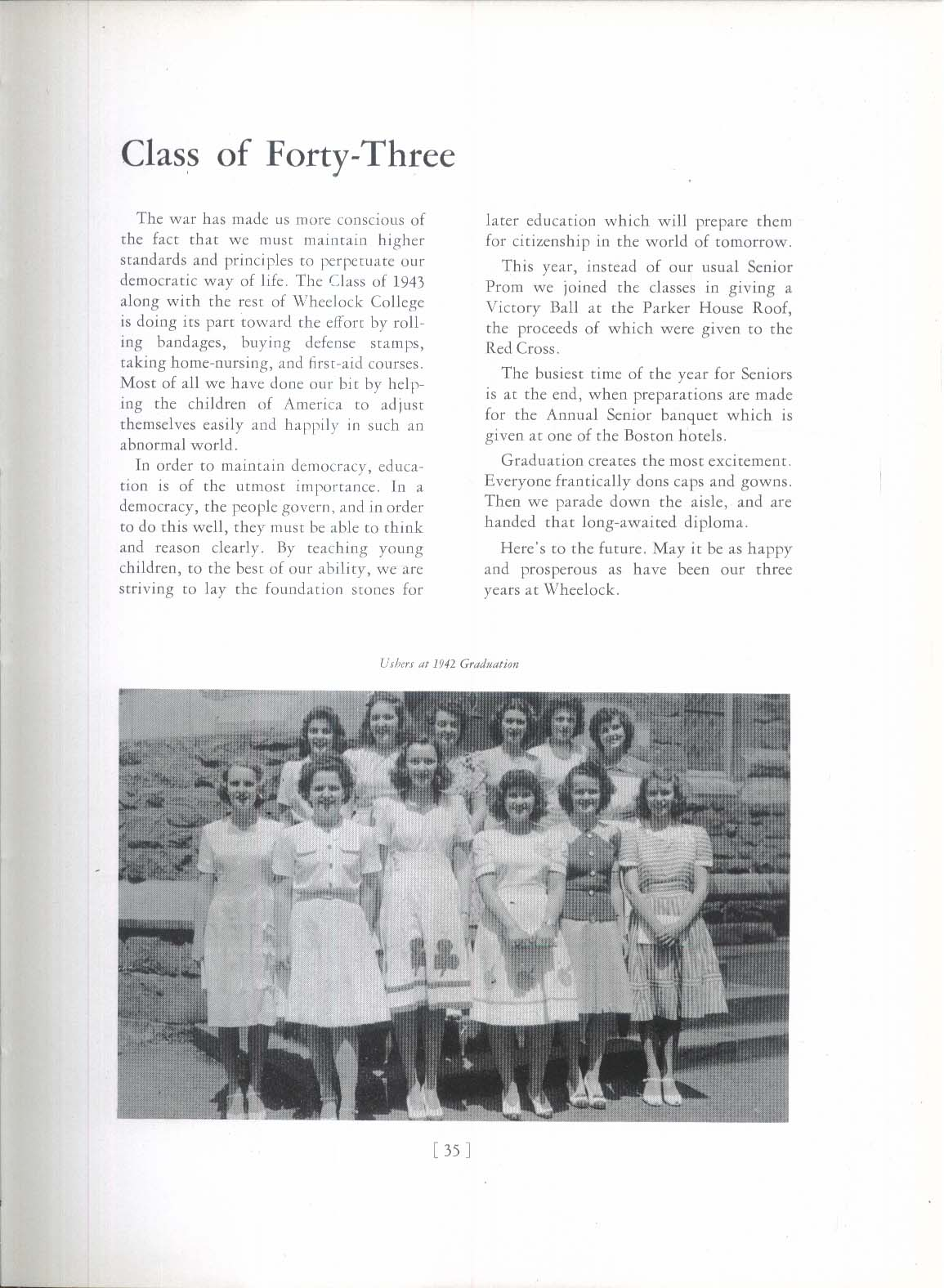 1943 Wheel Wheelock College Boston Massachusetts MA Yearbook