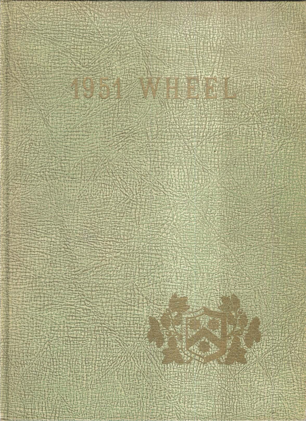 1951 Wheel Wheelock College 132 Riverway Boston Massachusetts MA Yearbook