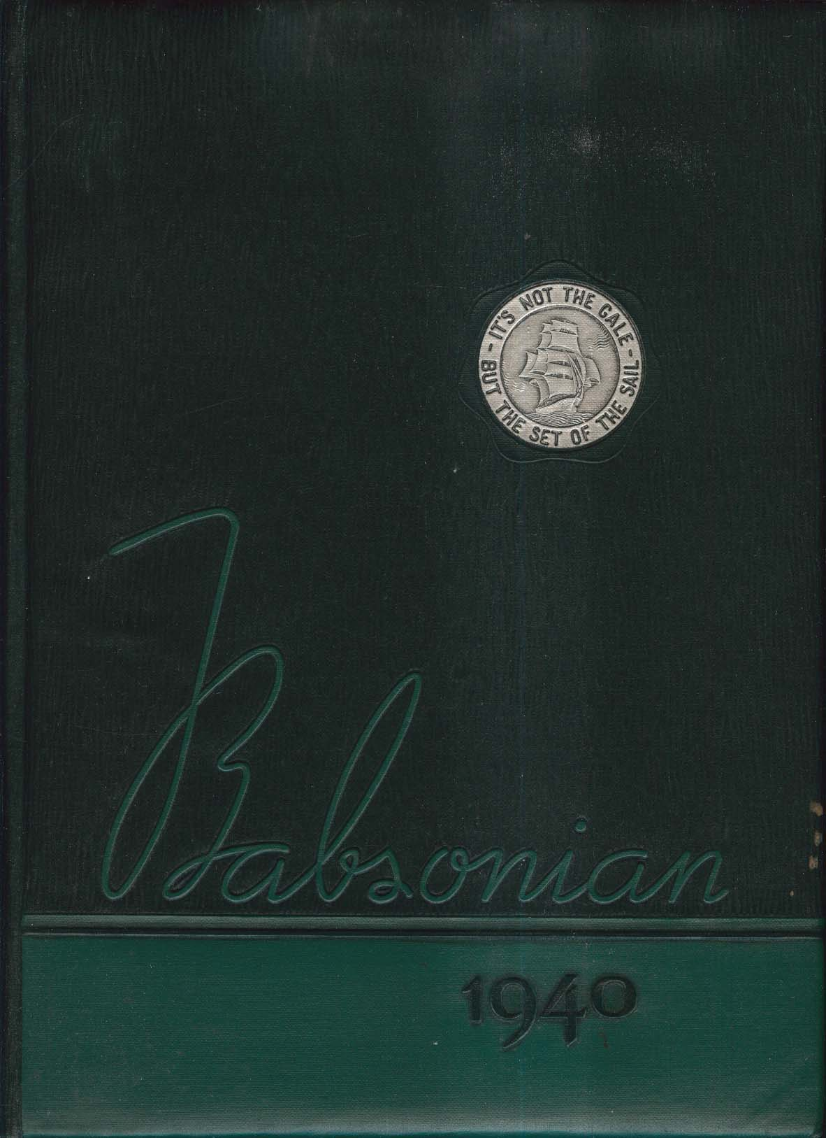 Babsonian 1940 Babson Institute Babson Park Massachusetts MA Yearbook
