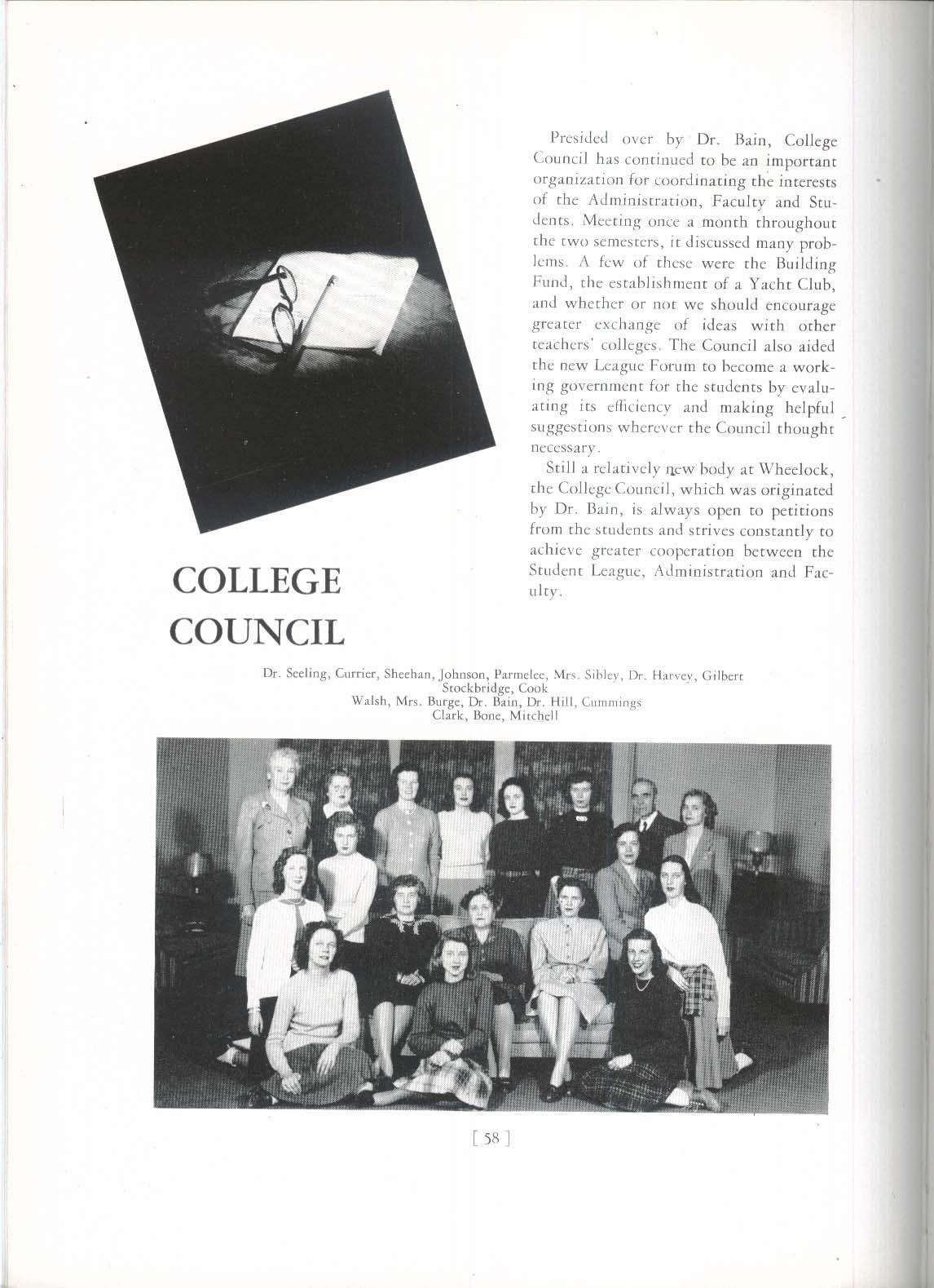 1947 Wheel Wheelock College Boston Massachusetts MA Yearbook