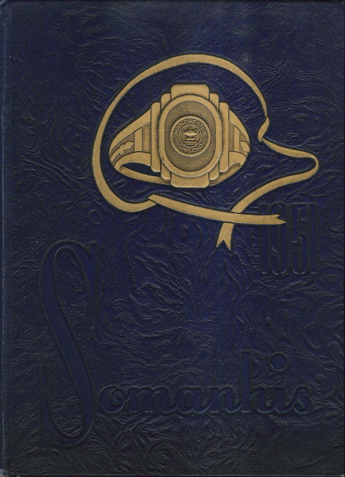 Image for Somanhis 1951 Manchester High School Yearbook Manchester Connecticut CT