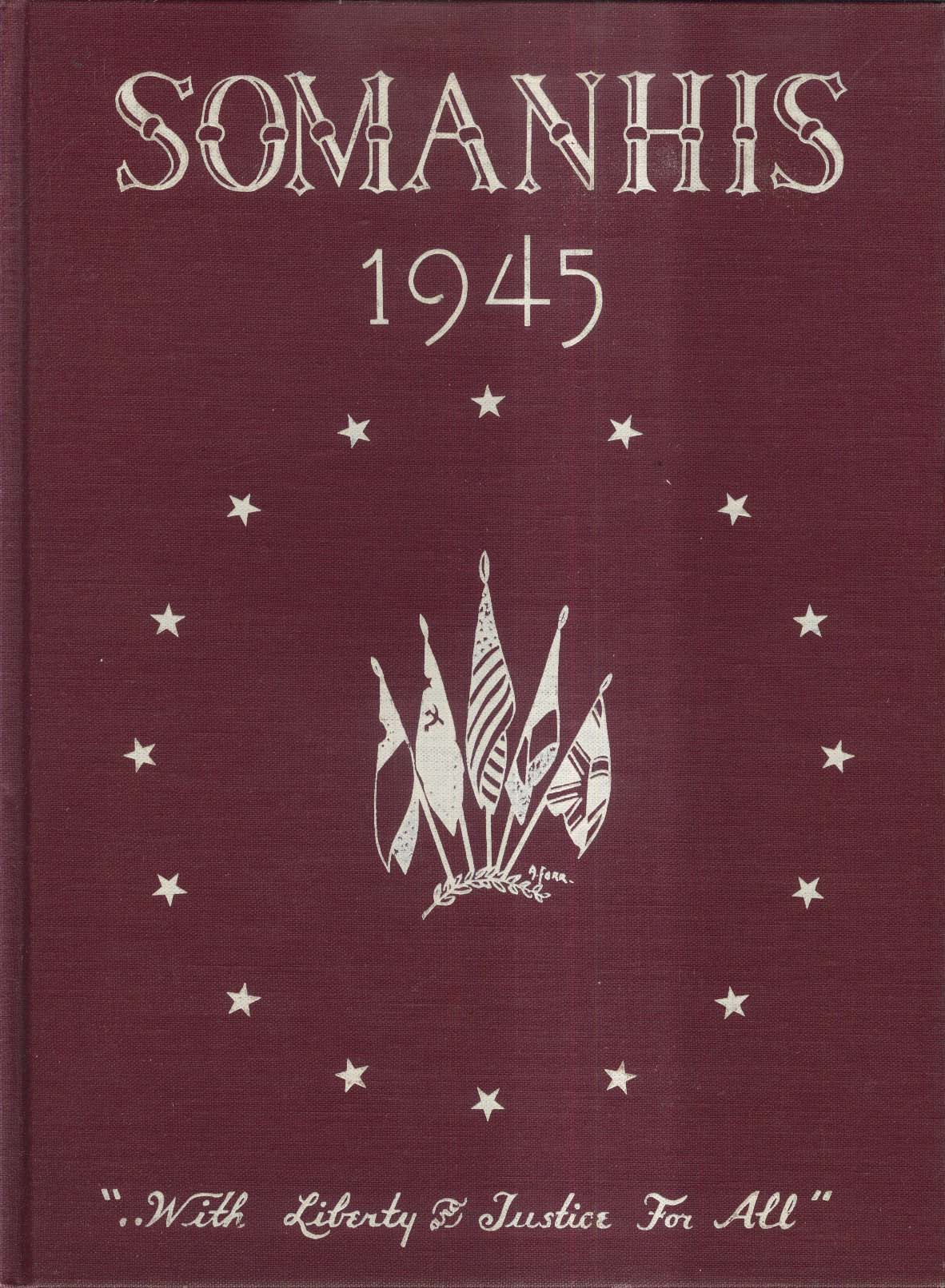 Somanhis 1945 Manchester High School Manchester Connecticut Yearbook