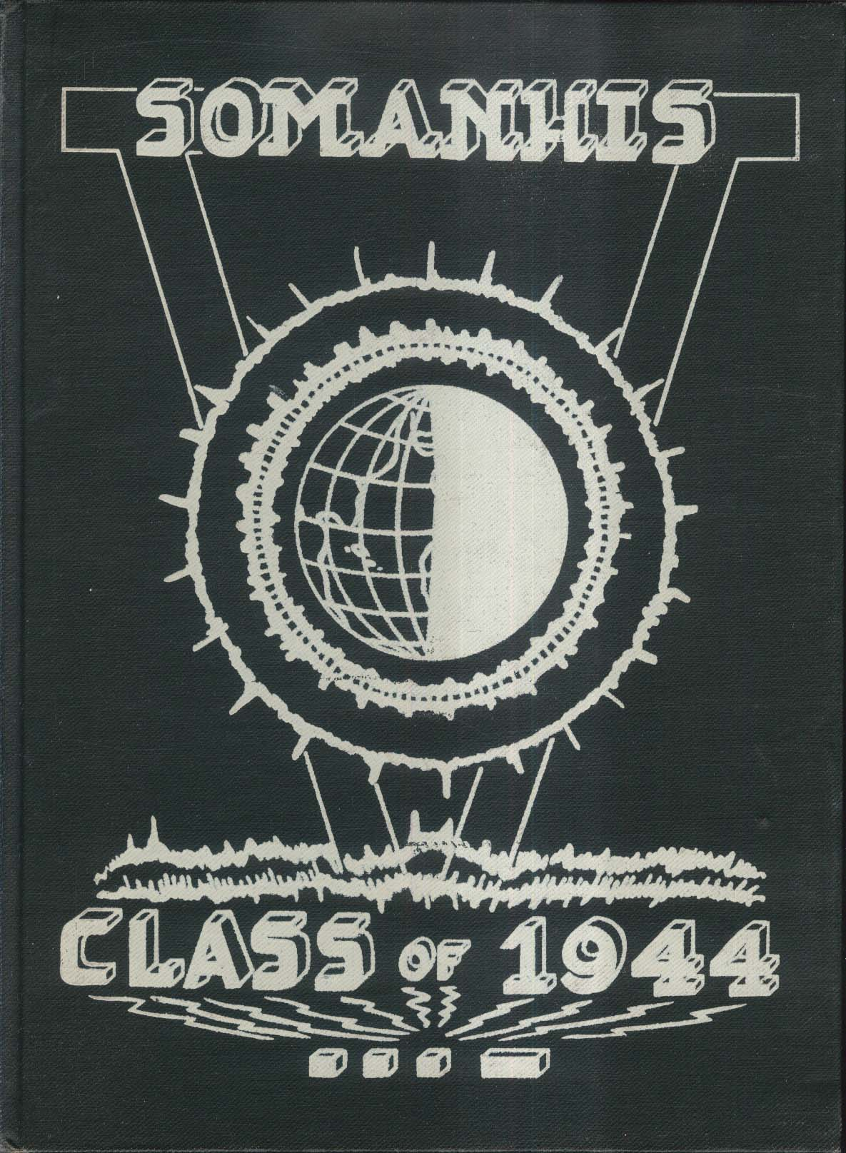 Somanhis Class of 1944 Yearbook Manchester High School Manchester Connecticut