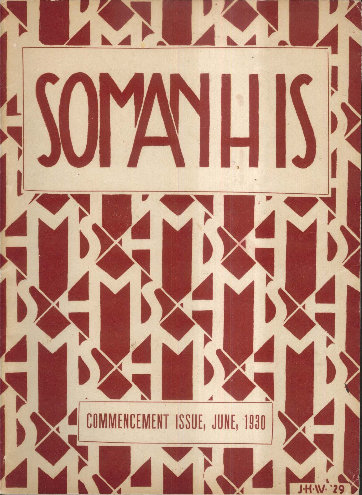 Image for Somanhis Commencement Issue 1930 Manchester High School Connecticut Yearbook