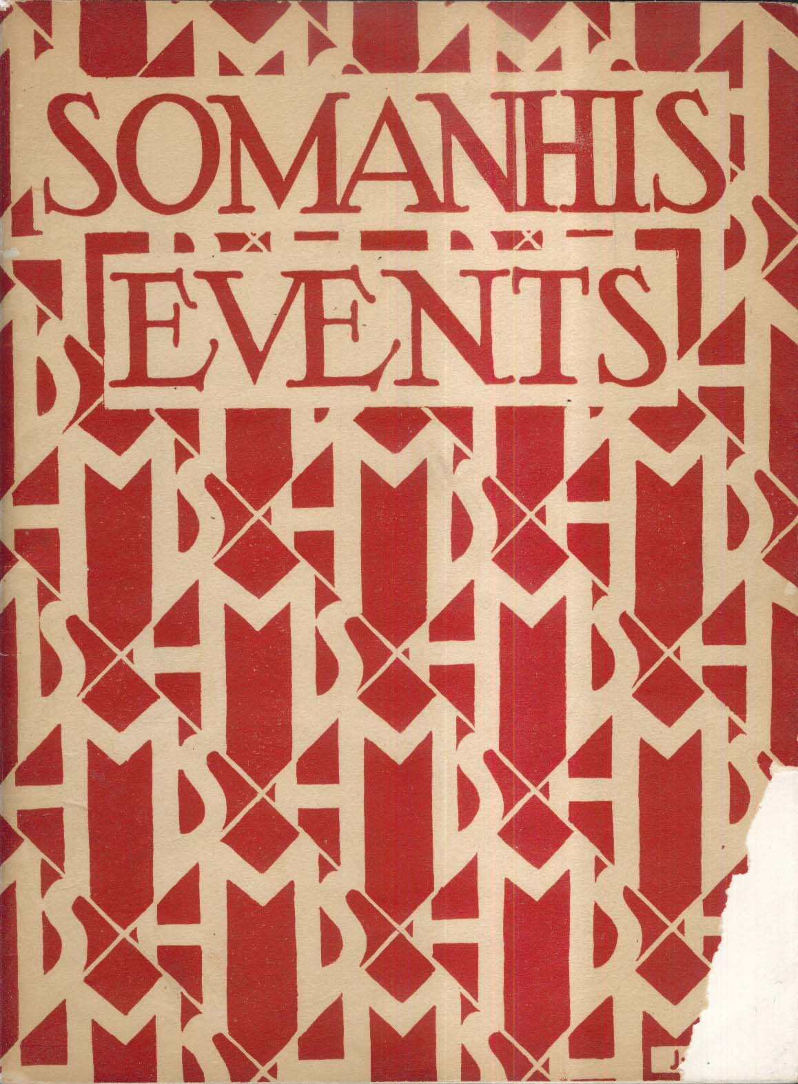 Image for Somanhis Events 1929 South Manchester High School Connecticut Yearbook