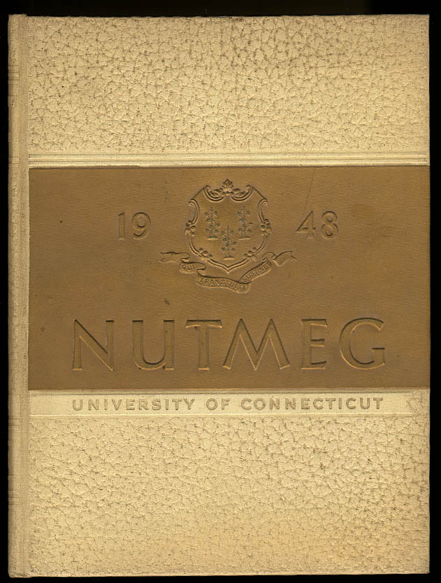 1948 Nutmeg University of Connecticut CT Yearbook Walt Dropo
