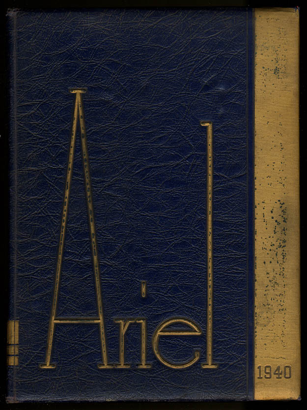 Ariel 1940 University of Vermont VT Yearbook