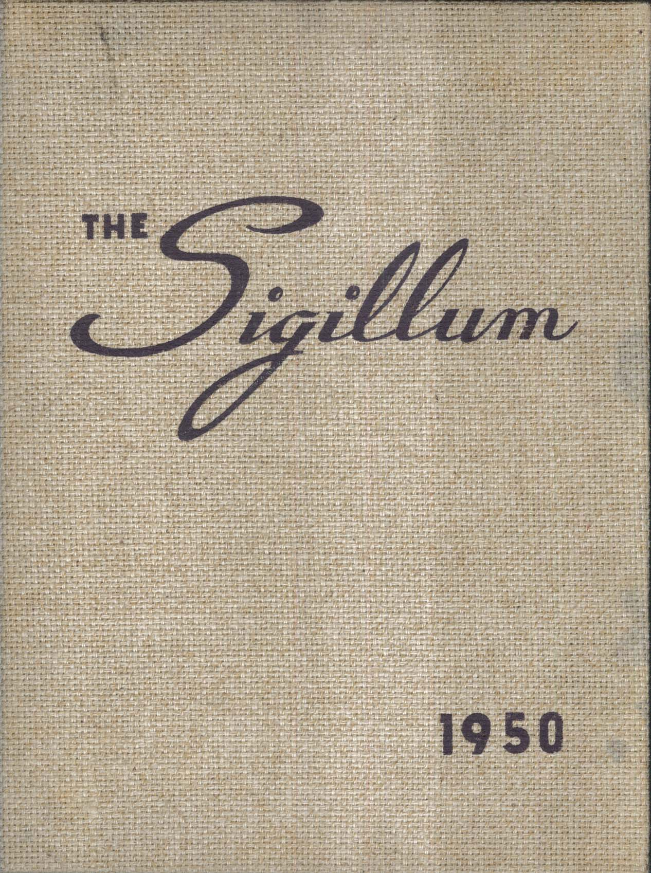 Image for The Sigillum 1950 Yearbook Nazareth College Rochester NY + Commencement Program
