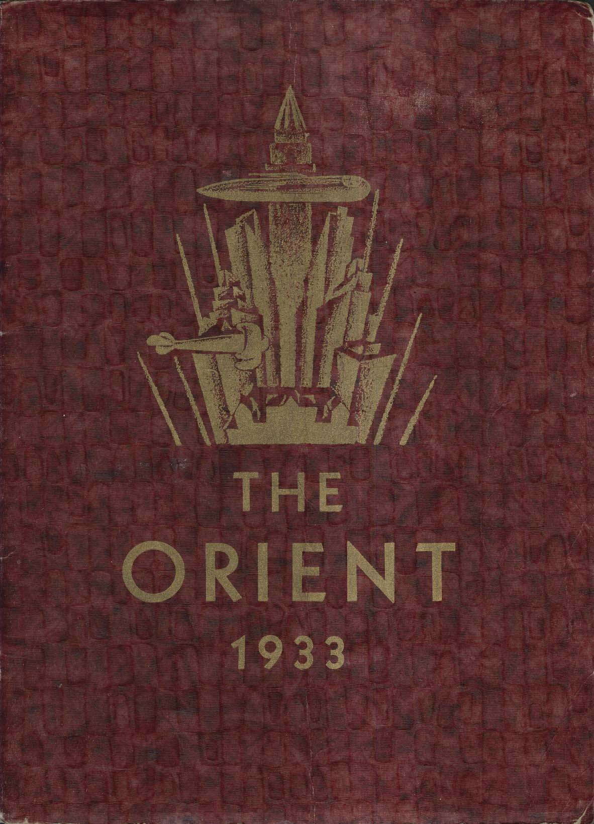 Image for The Orient 1933 East High School Rochester New York Yearbook