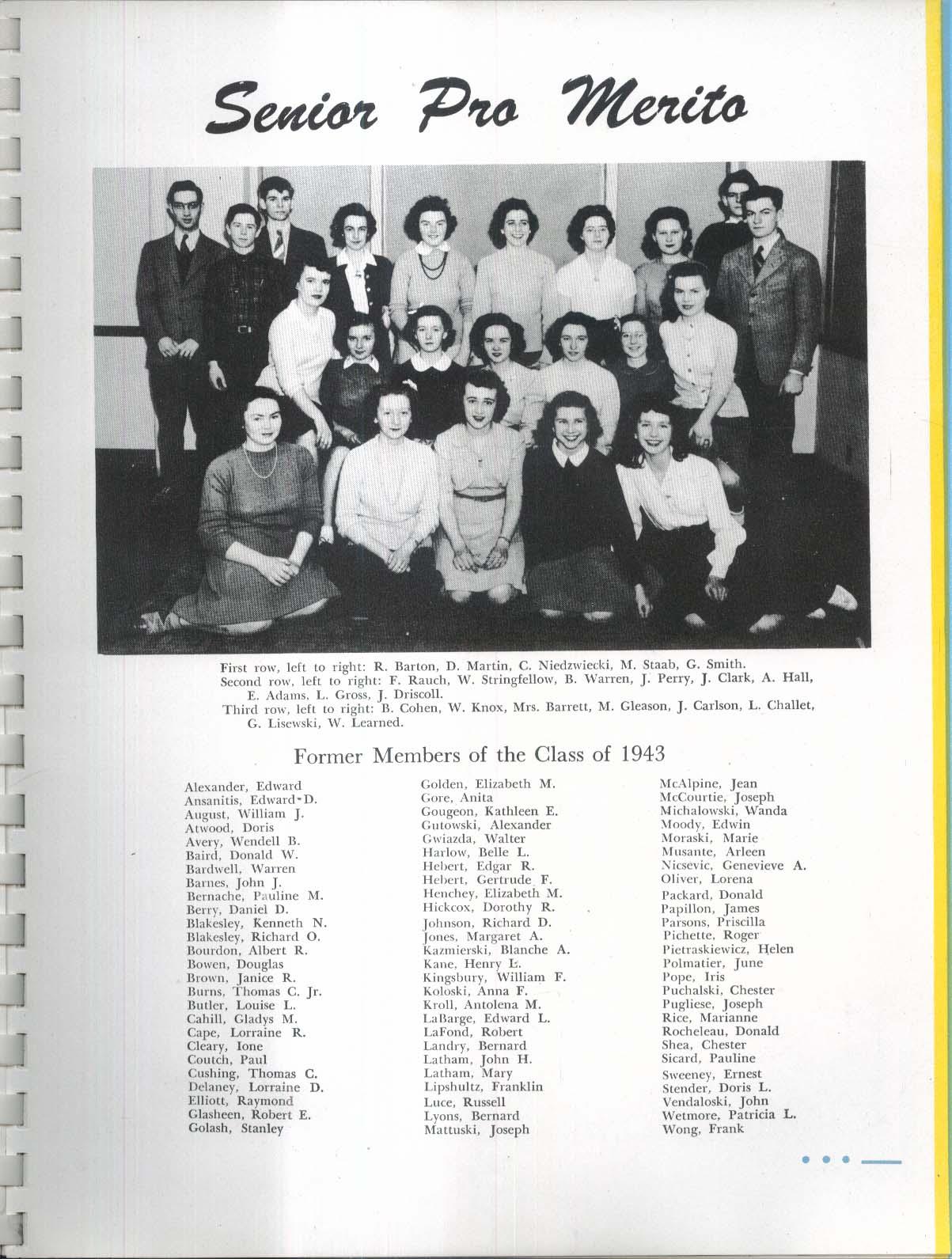 Image for Nesaki 1943 Northampton High School Yearbook Northampton MA