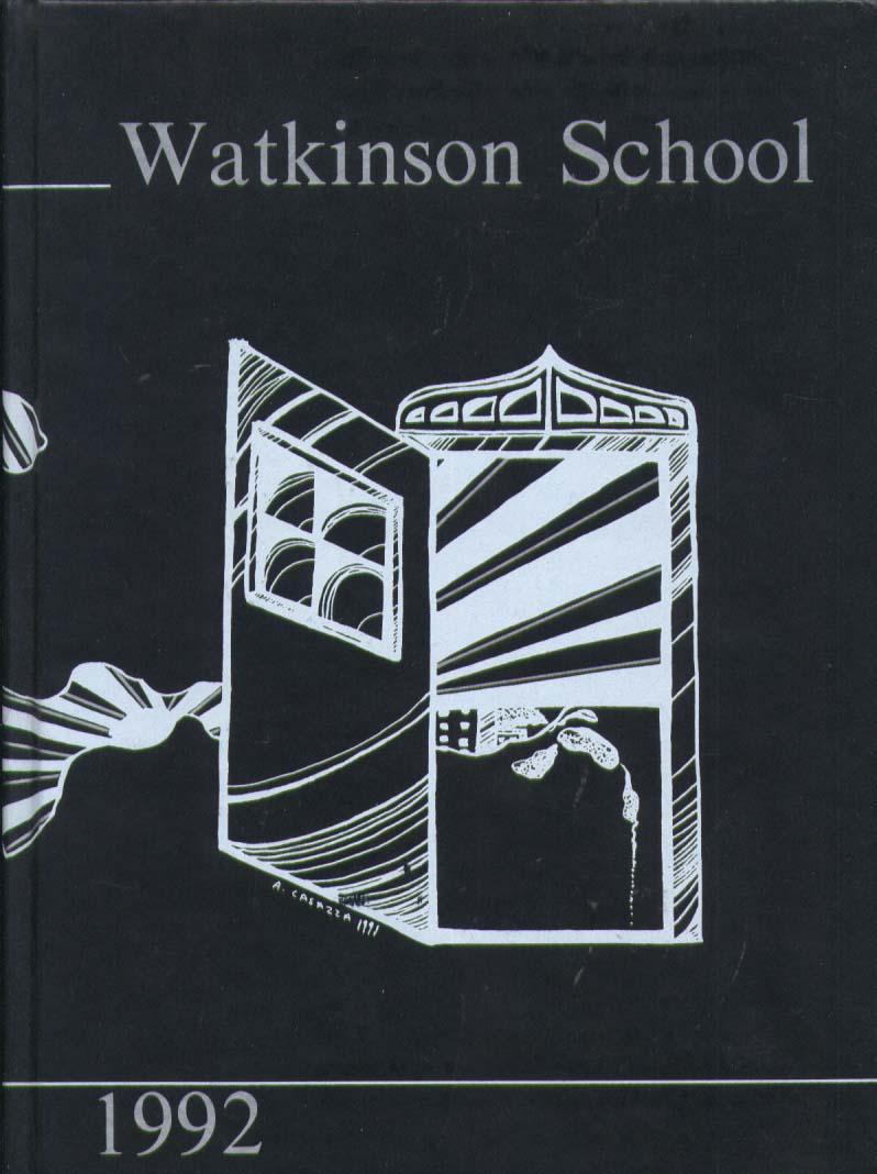 Watkinson School Hartford CT 1992 Yearbook