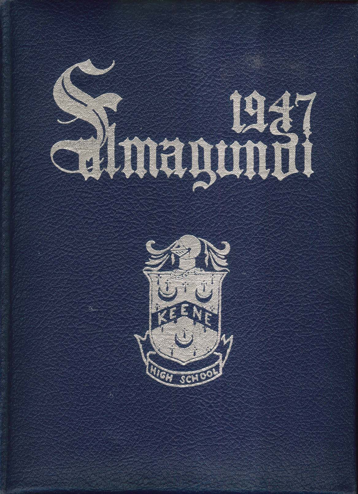 1947 Salmagundi Keene High School Yearbook Keene New Hampshire NH