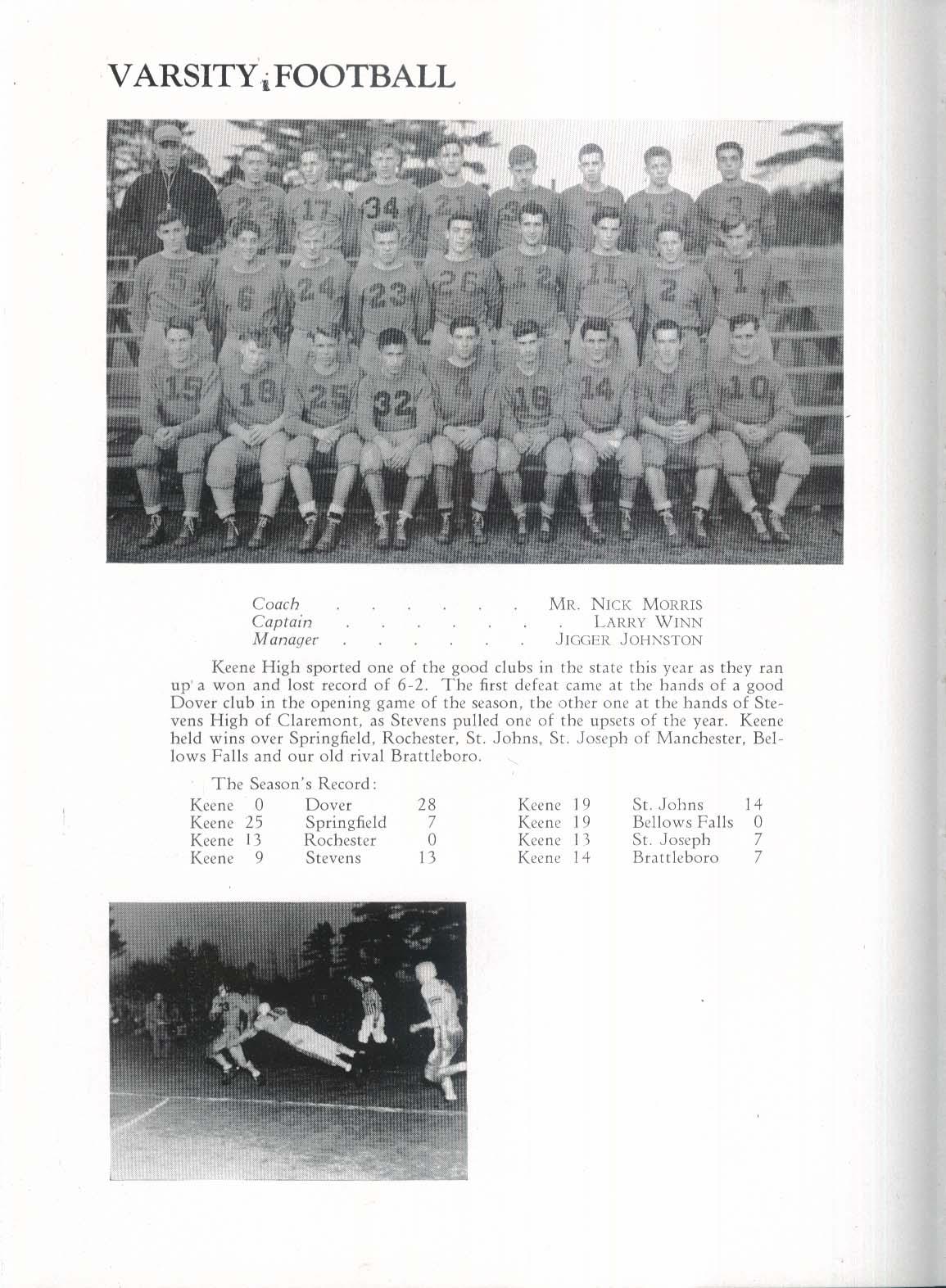 1947 Salmagundi Keene High School Yearbook Keene New Hampshire NH