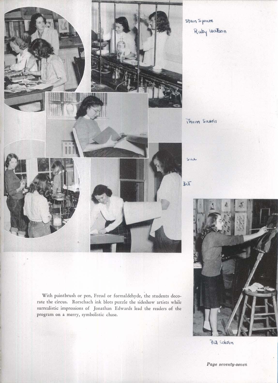 Image for Nike 1947 Wheaton College Yearbook Norton Massachusetts MA