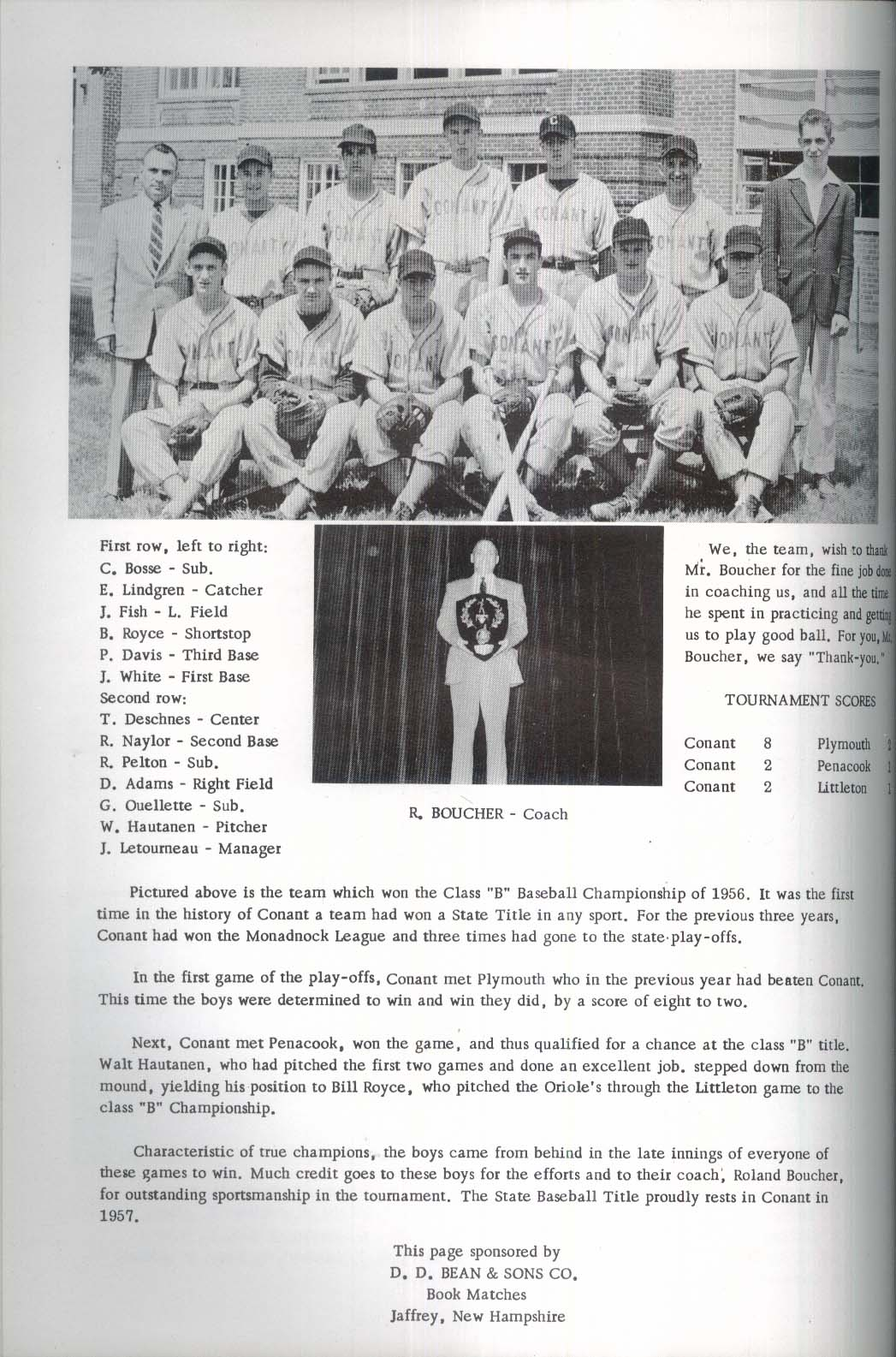 Image for The Conant 1957 Conant High School Yearbook