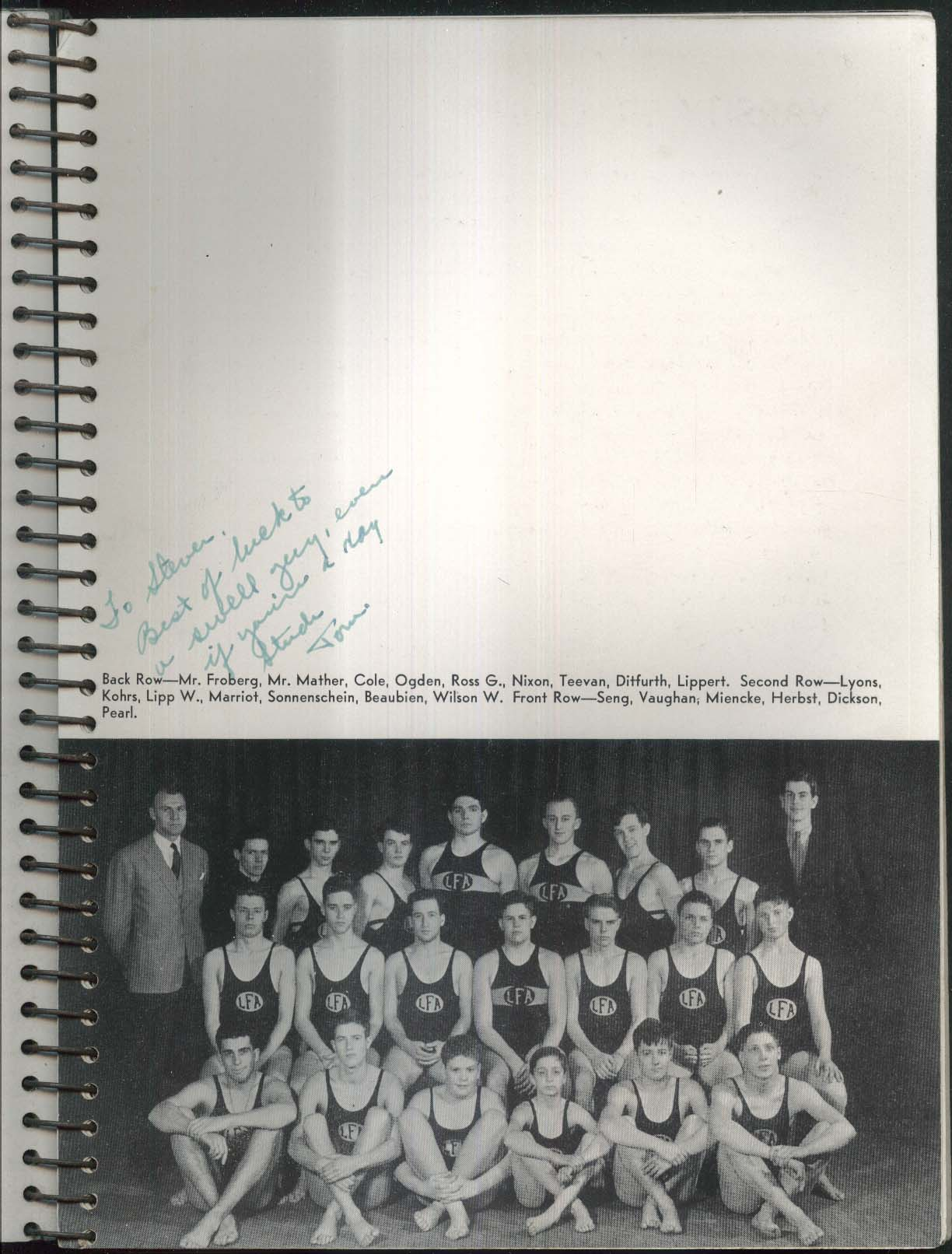Image for The Caxy 1937 Lake Forest Academy Yearbook Lake Forest IL George Ross PT 109