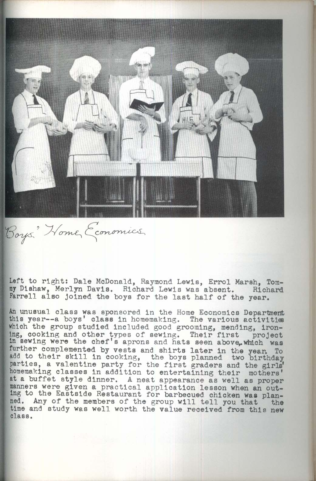Image for Derby Academy Yearbook Our Green Years 1955