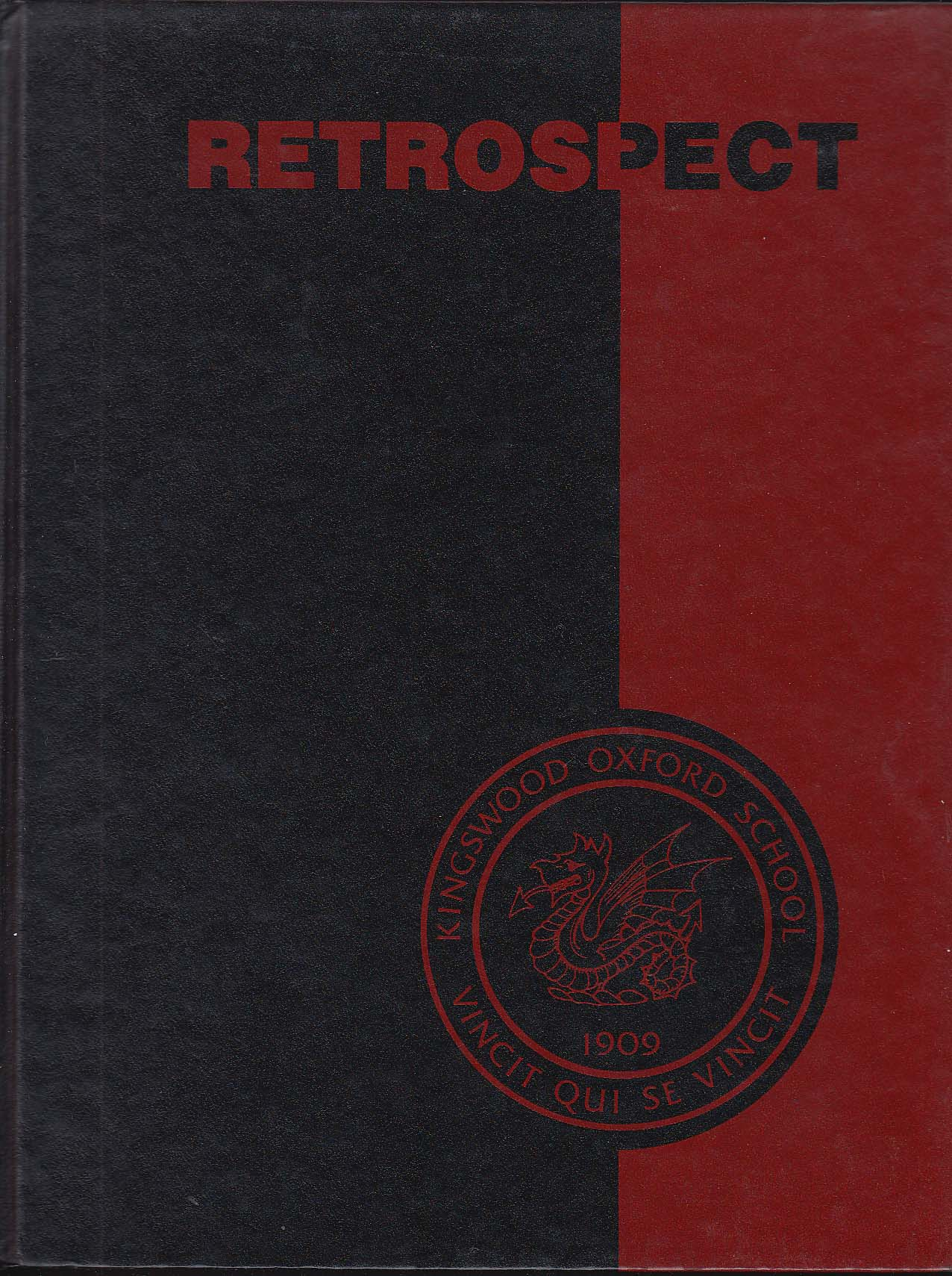 Image for Kingswood Oxford School Retrospect 1989 Yearbook Nancy Lublin West Hartford CT
