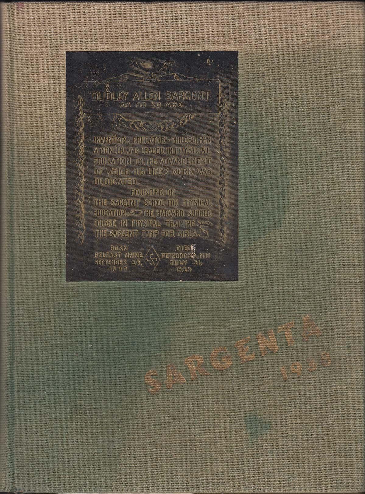 Image for Sargenta 1936 Yearbook Sargent College Boston University Cambridge MA