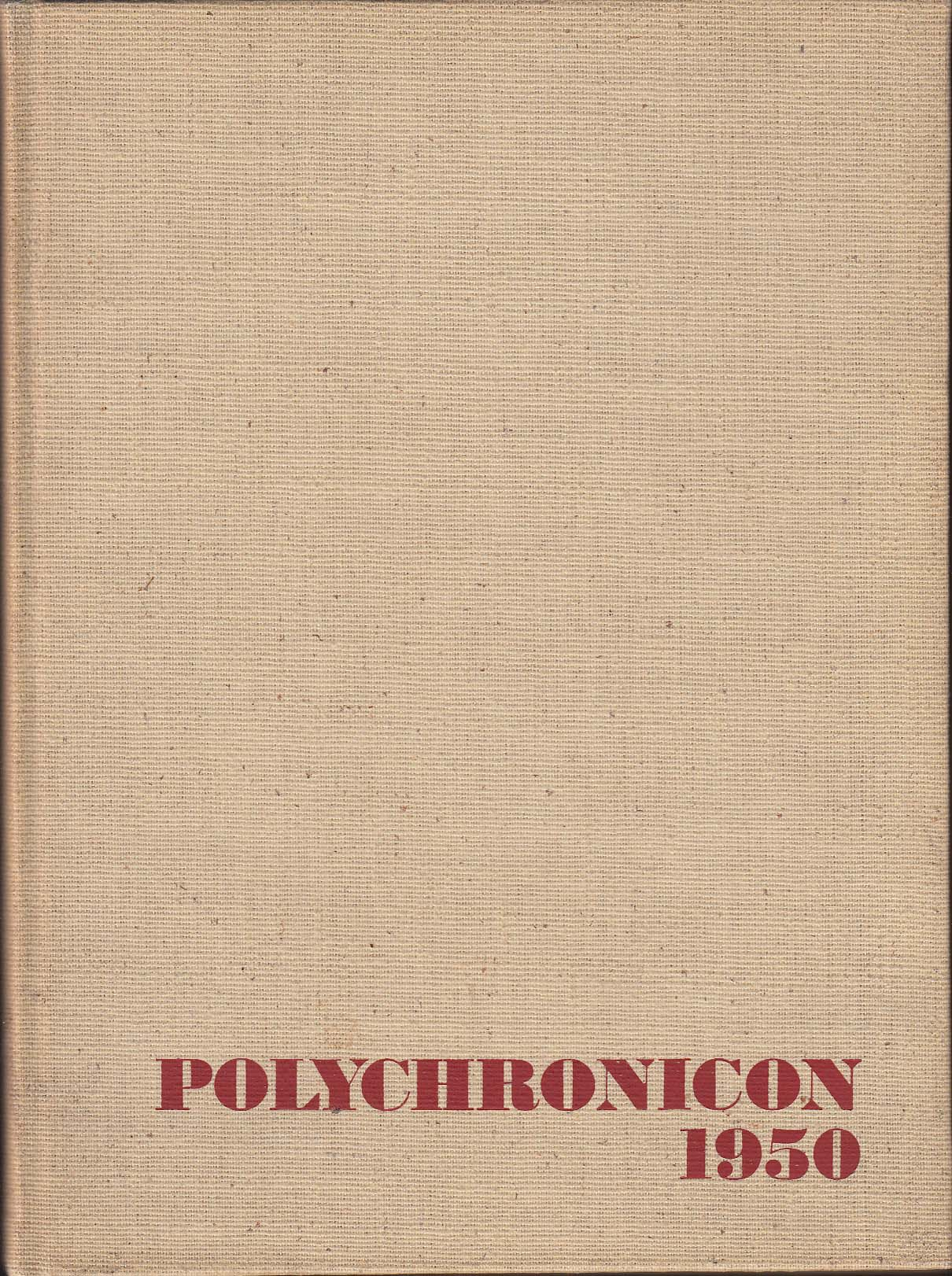 Image for Polychronicon 1950 Yearbook Flora Stone Mather College Cleveland Ohio OH
