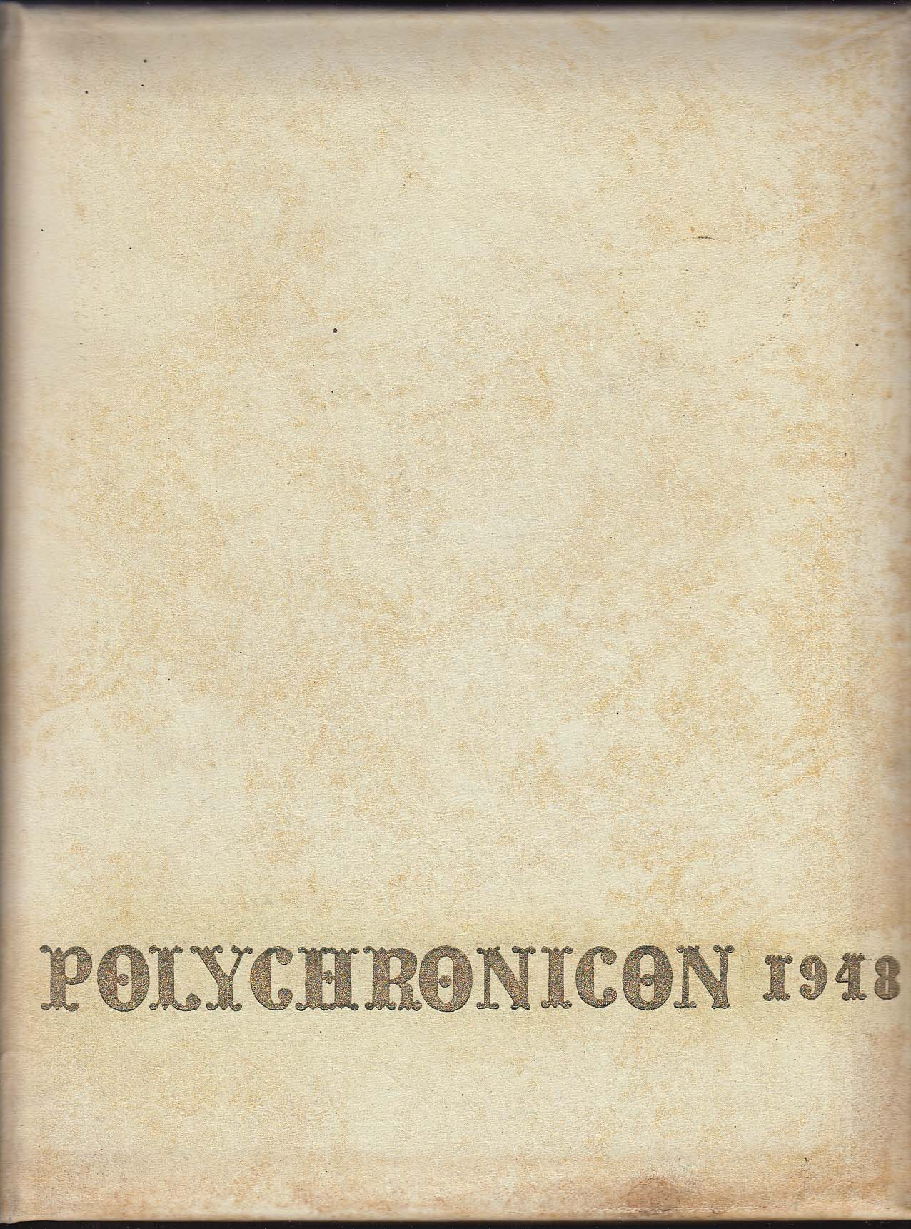 Polychronicon 1948 Yearbook Flora Stone Mather College Cleveland Ohio OH
