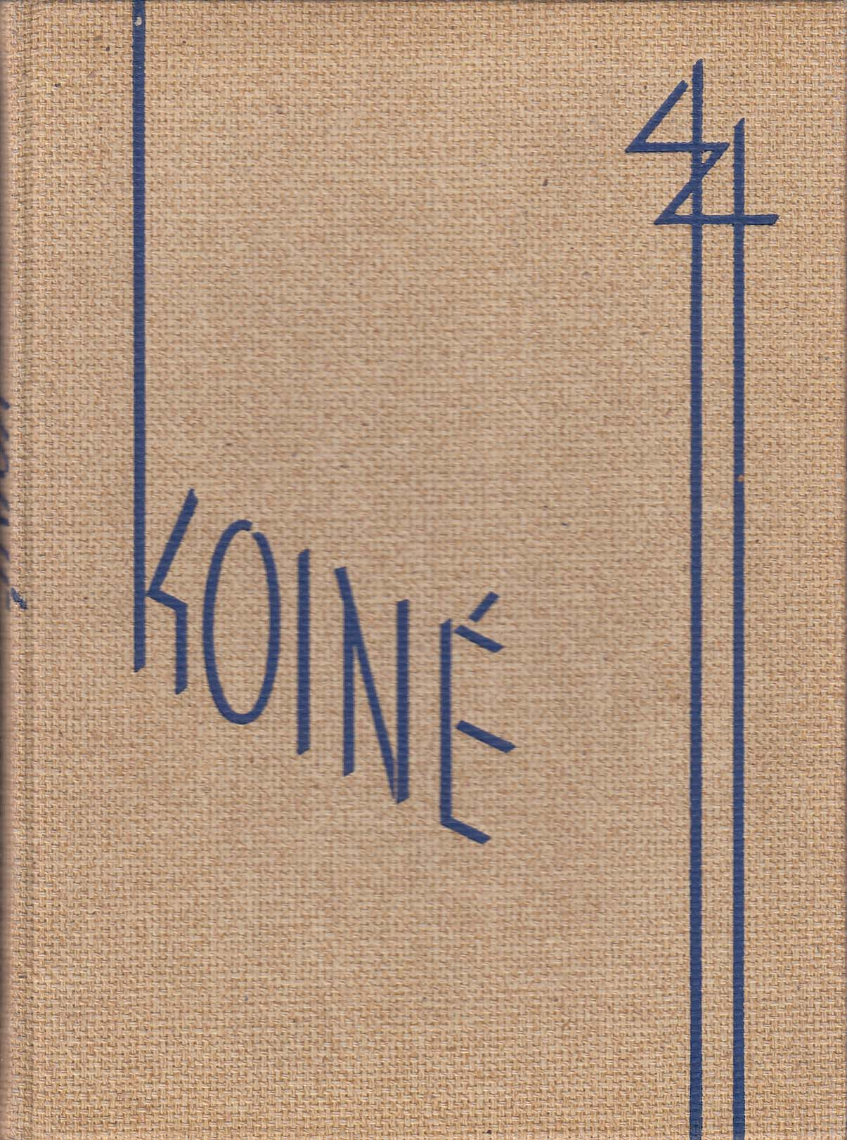 Image for Koine 1944 Yearbook Connecticut College for Women New London Connecticut