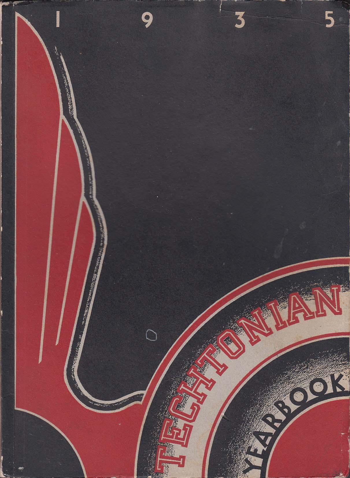 1935 Techtonian Yearbook Technical High School Buffalo New York